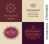set of  logos for restaurants ... | Shutterstock . vector #270943805