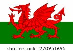 flag of wales | Shutterstock .eps vector #270951695