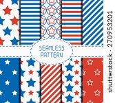 set of geometric patriotic... | Shutterstock .eps vector #270953201