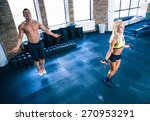 fitness man and woman workout... | Shutterstock . vector #270953291