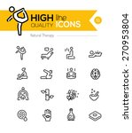 natural therapy line icons... | Shutterstock .eps vector #270953804