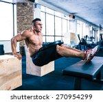 handsome muscular man workout... | Shutterstock . vector #270954299
