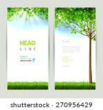 set of two natures banners | Shutterstock .eps vector #270956429