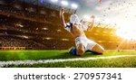 soccer player in action on... | Shutterstock . vector #270957341