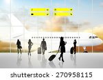 international airport terminal... | Shutterstock . vector #270958115