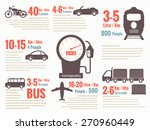 transportation fuel infographics | Shutterstock .eps vector #270960449