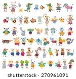 mega collection of cartoon... | Shutterstock . vector #270961091