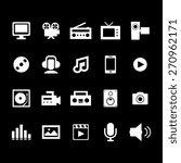 multimedia icon set | Shutterstock .eps vector #270962171