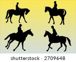 illustration of four horses and ... | Shutterstock .eps vector #2709648