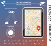global positioning system ... | Shutterstock .eps vector #270967865