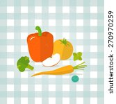 vector vegetables  fruit...   Shutterstock .eps vector #270970259
