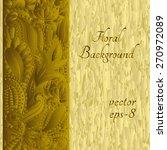 vintage floral motif background.... | Shutterstock .eps vector #270972089