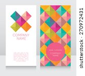 geometrical business card ... | Shutterstock .eps vector #270972431