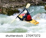 Image Of The Kayaker With An...