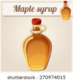maple syrup. detailed vector... | Shutterstock .eps vector #270974015