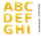 yellow honey jelly abc alphabet.... | Shutterstock .eps vector #270974501