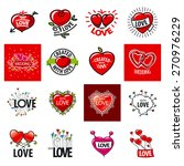 big set of vector logos heart | Shutterstock .eps vector #270976229
