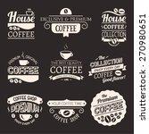 set of vector coffee elements.... | Shutterstock .eps vector #270980651
