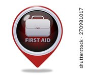 first aid pointer icon on white ... | Shutterstock . vector #270981017