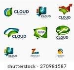 abstract logo set  geometric... | Shutterstock .eps vector #270981587