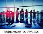 silhouette people meeting... | Shutterstock . vector #270993665