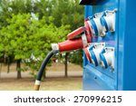 blue generator outdoors with... | Shutterstock . vector #270996215