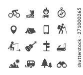 vector icons forest camping set ... | Shutterstock .eps vector #271000265