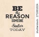 retro typographic poster design ... | Shutterstock .eps vector #271001024