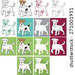 dog vector set of illustrations | Shutterstock .eps vector #271001951
