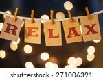 the word relax printed on... | Shutterstock . vector #271006391