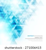 abstract geometric background... | Shutterstock .eps vector #271006415
