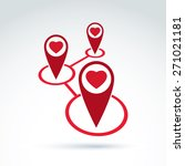 hearts and connections icon ...   Shutterstock .eps vector #271021181