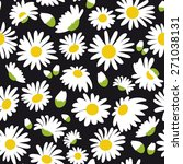seamless pattern with daisies ... | Shutterstock .eps vector #271038131