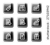 shopping web icons  black... | Shutterstock .eps vector #27103942