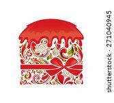 easter cake. | Shutterstock .eps vector #271040945