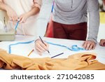 young clothing designers draw... | Shutterstock . vector #271042085