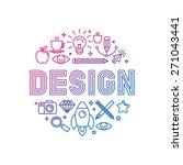 vector linear logo design... | Shutterstock .eps vector #271043441