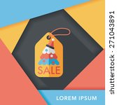 christmas sale flat icon with... | Shutterstock .eps vector #271043891