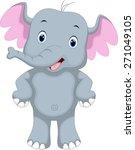 cute elephant cartoon | Shutterstock . vector #271049105