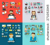 set of professions. graphic... | Shutterstock .eps vector #271052045
