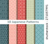 set of ten japanese patterns | Shutterstock .eps vector #271057991