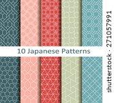 set of ten japanese patterns | Shutterstock .eps vector #271057991