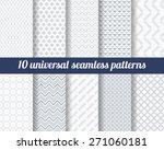 set of ten subtle seamless... | Shutterstock .eps vector #271060181