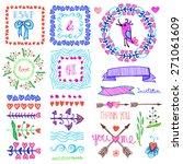 hand drawn ink highlighter... | Shutterstock .eps vector #271061609