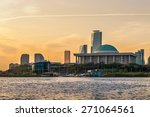 the sun rises over the national ... | Shutterstock . vector #271064561