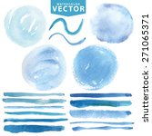 watercolor hand painting stains ...   Shutterstock .eps vector #271065371