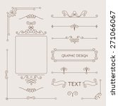 set of vintage decorations... | Shutterstock .eps vector #271066067