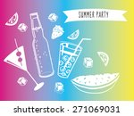 summer time party poster | Shutterstock .eps vector #271069031