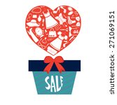 concept for sales. gift box... | Shutterstock .eps vector #271069151