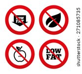 no  ban or stop signs. low fat... | Shutterstock .eps vector #271085735